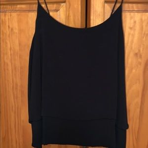 Black Flowy Layered Tank Top